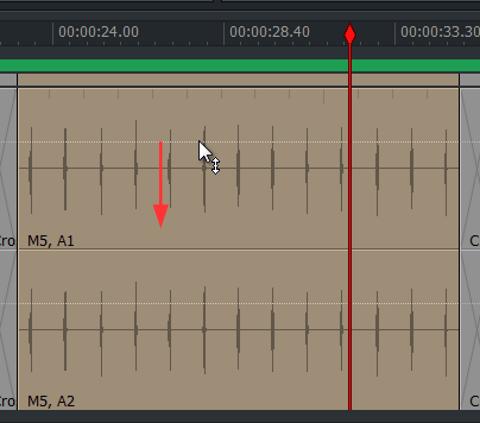 audio クリップ音量