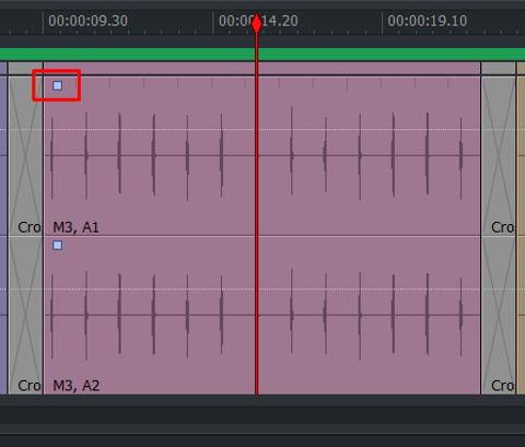 audio タイムライン