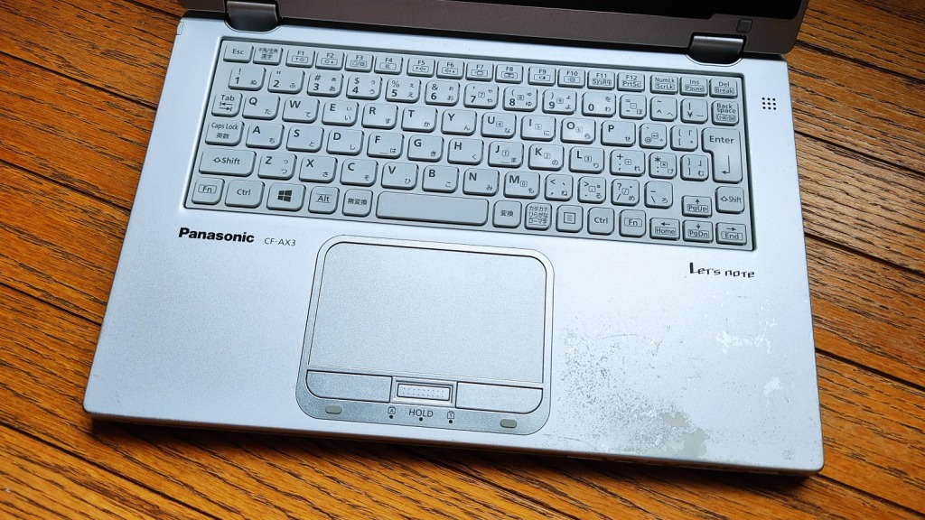 Lst'sNote CF-AX3キーボード